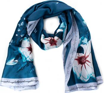 Esarfa dama Pami Silk Touch 90 x 180 cm Turcoaz