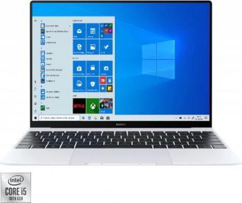 Ultrabook Huawei Matebook X Intel Core (10th Gen) i5-10210U 512GB SSD 16GB 3K Touch Win10 T.Ilum. FPR Silver Frost