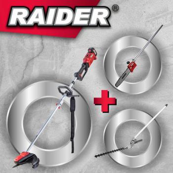 Pachet Raider RP7641_20 Trimmer electric 300mm + Cap trimmer 400mm + Cap fierastrau crengi cu lama 200mm Trimmere electrice