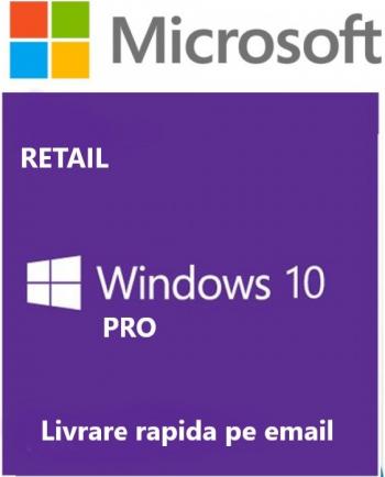 Windows 10 Pro Retail all languages licenta permanenta persoane fizice si juridice 3264 Sisteme de operare
