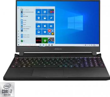 Laptop Gaming Gigabyte AORUS 15G Intel Core (10th Gen) i7-10870H 1TB SSD 32GB NVIDIA GeForce RTX 3080 8GB FullHD Win10 RGB Black