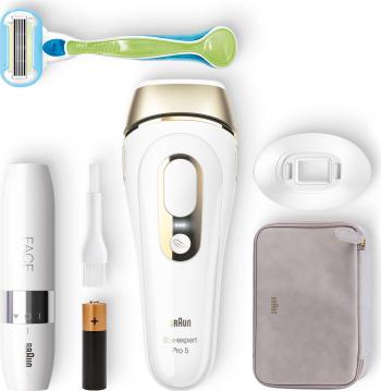 Epilator IPL Braun Body Face Silk Expert PRO 5129 400.000 impulsuri SensoAdapt Alb