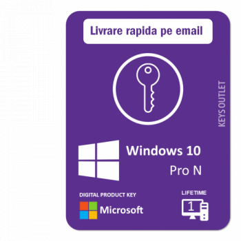Licenta Windows 10 Pro N Retail Permanenta