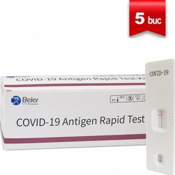 Test Rapid COVID-19 Antigen Beier Set 5 Buc Teste rapide covid anticorpi antigen