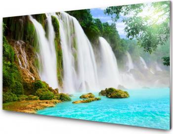 Panou antistropi bucatarie sticla securizata model Cascada splendida 600x500 mm Placi decorative
