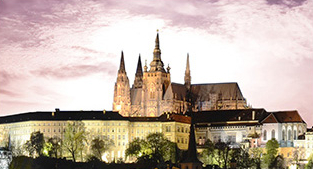 Panou bucatarie protectie plita aragaz antistropire print UV model Cetatea din Praga 600x500 mm Placi decorative