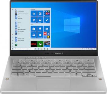 Laptop Gaming ASUS ROG Zephyrus G14 GA401QE AMD Ryzen 7 5800HS 512GB SSD 16GB RTX 3050 Ti 4GB FullHD 144Hz Win10 T. il. White AniMe