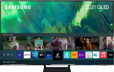 Televizor QLED 163 cm Samsung QE65Q70AA Quantum Dot Ultra HD 4K Quantum HDR Smart TV Titan Gray