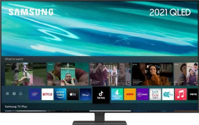 Televizor QLED 163 cm Samsung QE65Q80AA Ultra HD 4K Quantum HDR Smart TV Black