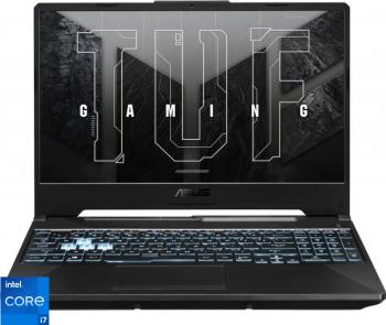 Laptop Gaming ASUS TUF F15 FX506HE Intel Core (11th Gen) i7-11800H 1TB SSD 16GB Geforce RTX 3050Ti 4GB FullHD Endless RGB Graphite Black