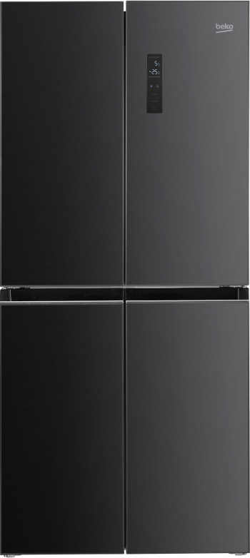 Frigider Side by side Beko GNO4031GS 421l Clasa E NeoFrost Dual Cooling Compresor Prosmart Inverter Display touch H 180 cm Antracit Frigidere Side By Side