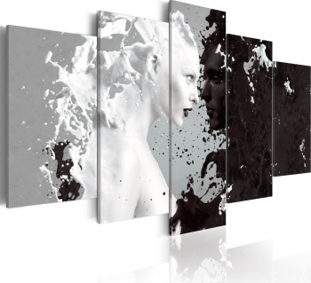 Tablou canvas 5 piese - Milk and Choco - 100x50 cm