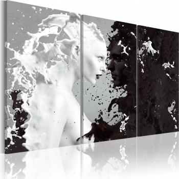 Tablou canvas 3 piese - Milk si Choco triptic - 60 x 40 cm