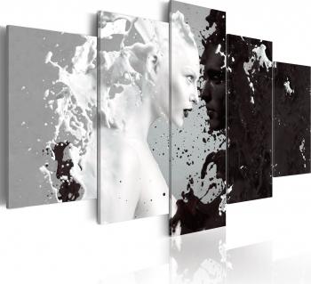 Tablou canvas 5 piese - Milk and Choco - 200x100 cm