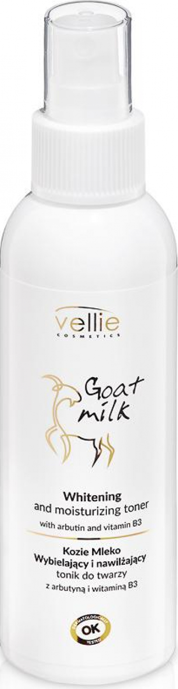 Toner facial hidratant cu efect de albire Vellie Goat Milk 120ml