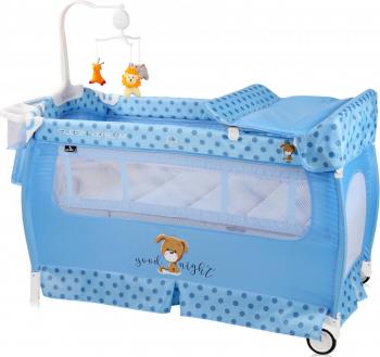 Patut pliabil Sleep n Dream 2 nivele Blue Dog
