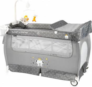 Patut pliabil Sleep n Dream 2 nivele Grey Bear