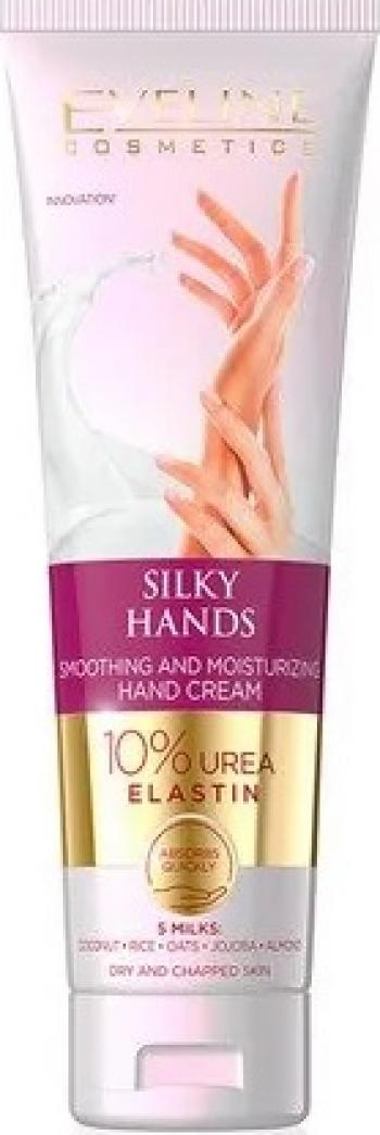 Crema de maini Eveline Cosmetics Silky Hands 10 urea elastin 100 ml