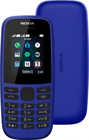 Telefon mobil Nokia 105 2019 Dual SIM Blue Telefoane Mobile