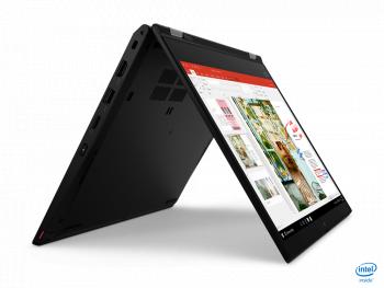 Laptop 2in1 Lenovo ThinkPad L13 Yoga Intel Core (10th Gen) i5-10210U 512GB SSD 16GB FullHD Touch Win10 Pro Tast. ilum. FPR Black