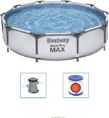 Piscina cu cadru metalic pompa de filtrare Steel Pro MAX Albastru 6473 Litri 366 x 76 cm