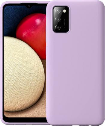 Husa protectie pentru Samsung Galaxy A02S ultra slim din silicon Mov silk touch interior din catifea