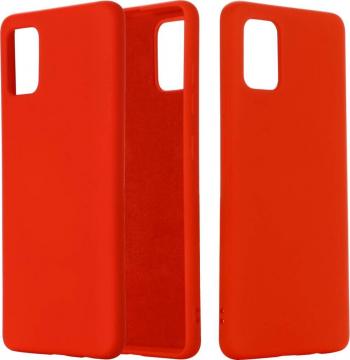 Husa protectie pentru Samsung Galaxy A02S ultra slim din silicon Rosu silk touch interior din catifea