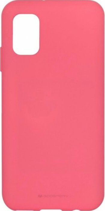 Husa protectie pentru Samsung Galaxy A02S ultra slim din silicon Roz silk touch interior din catifea