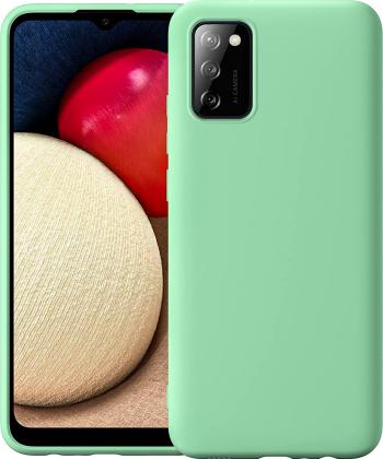 Husa protectie pentru Samsung Galaxy A02S ultra slim din silicon Verde silk touch interior din catifea