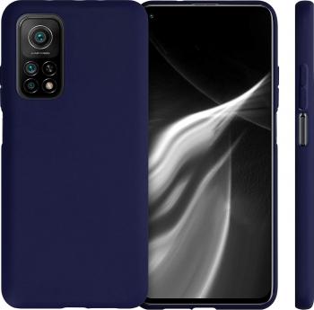 Husa protectie pentru Xiaomi MI 10T ultra slim din silicon Albastru silk touch interior din catifea