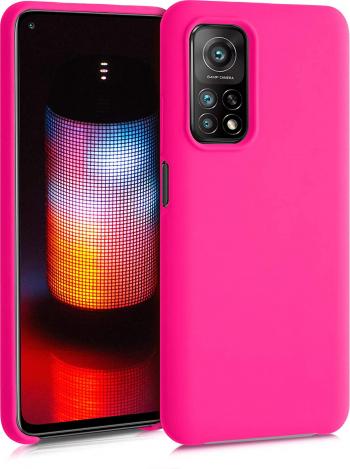 Husa protectie pentru Xiaomi Mi 10T ultra slim din silicon Roz silk touch interior din catifea