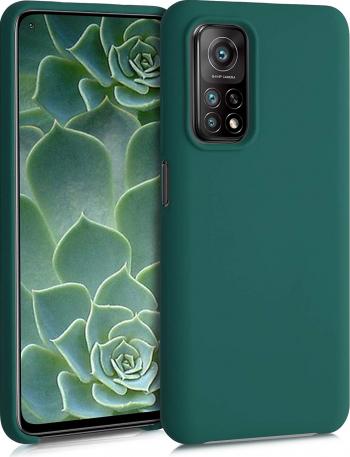 Husa protectie pentru Xiaomi MI 10T ultra slim din silicon Verde inchis silk touch interior din catifea