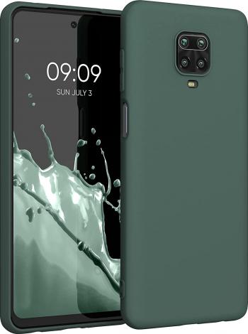 Husa protectie pentru Xiaomi Redmi 9Pro ultra slim din silicon Verde ichis silk touch interior din catifea