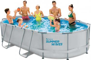 Piscina cadru metalic Summer Waves 488x305x107 cm 11.500 litri cu toate accesoriile