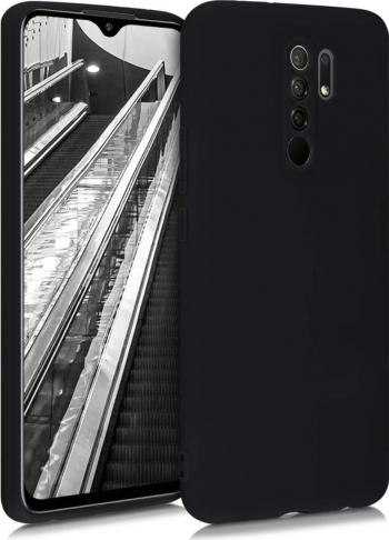Husa protectie pentru Xiaomi Redmi 9 ultra slim din silicon Negru silk touch interior din catifea