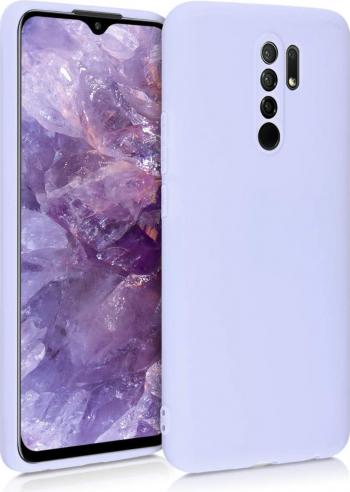 Husa protectie pentru Xiaomi Redmi 9 ultra slim din silicon Albastru deschis silk touch interior din catifea