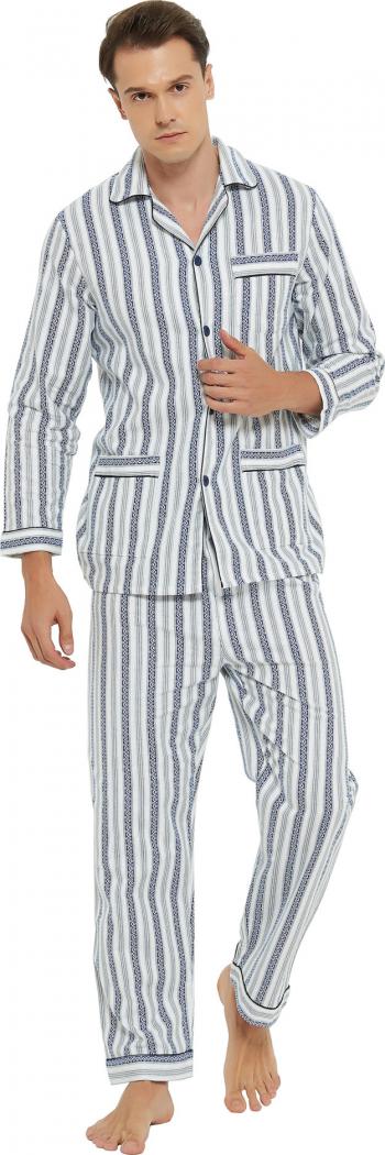 Pijama Barbati Clasica Global SET Bumbac 100 Marimea 46 EU S