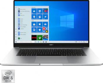 Ultrabook Huawei MateBook D15 2021 Intel Core (10th Gen) i5-10210U 512GB SSD 16GB FullHD Win10 FPR Silver