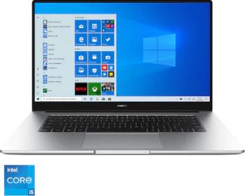 Ultrabook Huawei MateBook D15 2021 Intel Core (11th Gen) i5-1135G7 512GB SSD 16GB Iris Xe FullHD Win10 FPR Silver