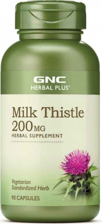 GNC Herbal Plus and reg Milk Thistle 200 mg Silimarina 90 cps