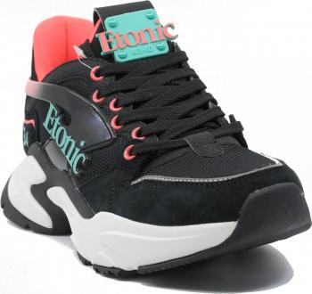 Sneakers dama Etonic negri din material textil-39 EU