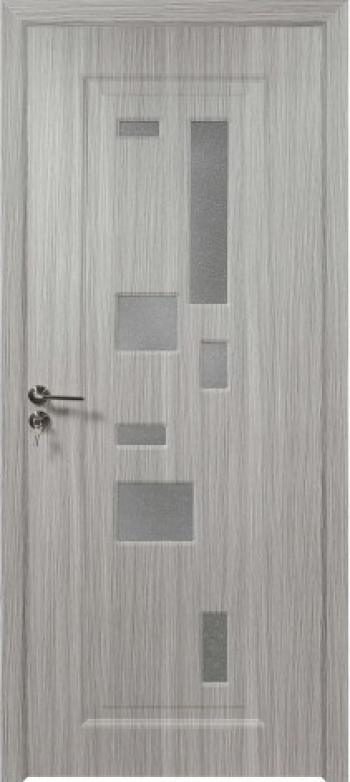 Usa de interior din lemn cu geam BestImp B02-78-N stanga / dreapta argintiu 203 x 78 cm