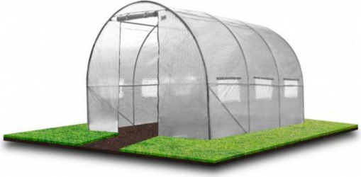 Sera tunel solar CHOMIK cu folie transparenta de gradina structura solida din otel zincat 3 segmenti 10MP 4x 2.5M