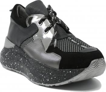 Pantofi sport dama ILI negri din piele naturala-35 EU