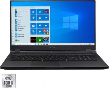 Laptop Gaming Gigabyte AERO 17G Intel Core (10th Gen) i7-10870H 1TB SSD 32GB RTX 3080 8GB FullHD 300Hz Win10 RGB Black