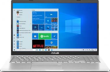 UltraBook ASUS VivoBook 15 X515JA Intel Core (10th Gen) i3-1005G1 256GB SSD 8GB FullHD Win10 T.Ilum. Transparent Silver