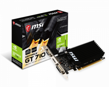Placa video MSI GeForce GT 710 1GB DDR3 LP 64Bit