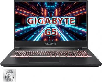 Laptop Gaming Gigabyte G5 Intel Core (10th Gen) i5-10500H 512GB SSD 16GB NVIDIA Geforce RTX 3060 6GB FullHD T.Ilum. RGB Negru
