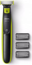 Aparat hibrid de barbierit si tuns barba Philips OneBlade QP2520/20 Autonomie 45 min Verde Negru