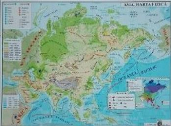 Asia - Harta Fizica + Harta Politica A3 Harti